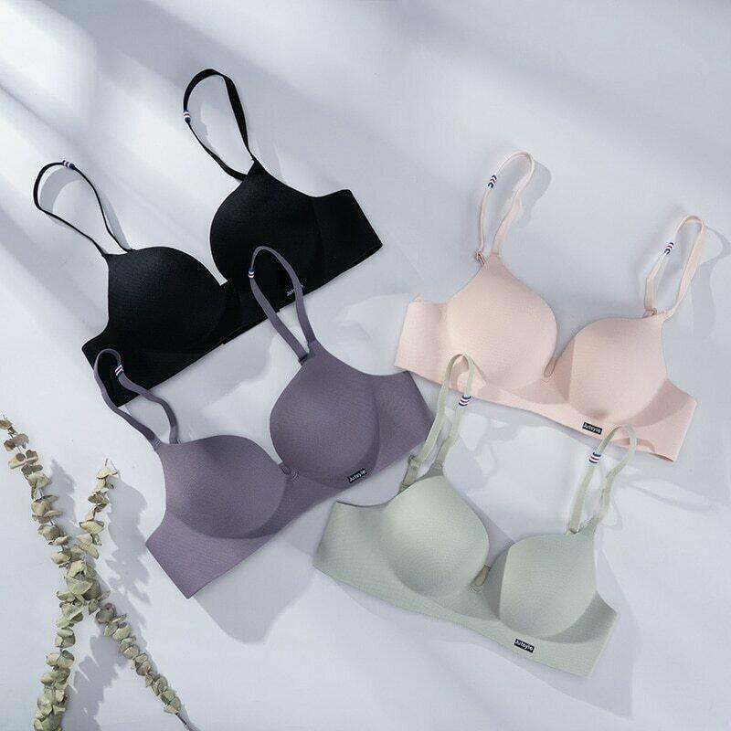 Sexy Deep U Bras For Women Push Up Lingerie Seamless Wireless Bralette Fashion Comfortable Brassiere Female Underwear Intimates