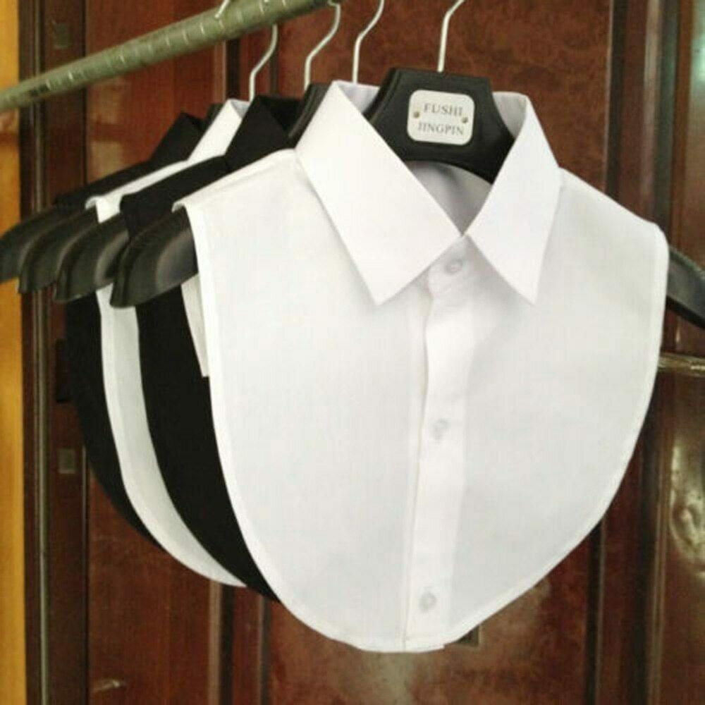 2021 Women Detachable Lapel Fake Collar Ruffles Lace Cotton Shirt Fake False Collar Blouse Removable False Half Shirt Blouse
