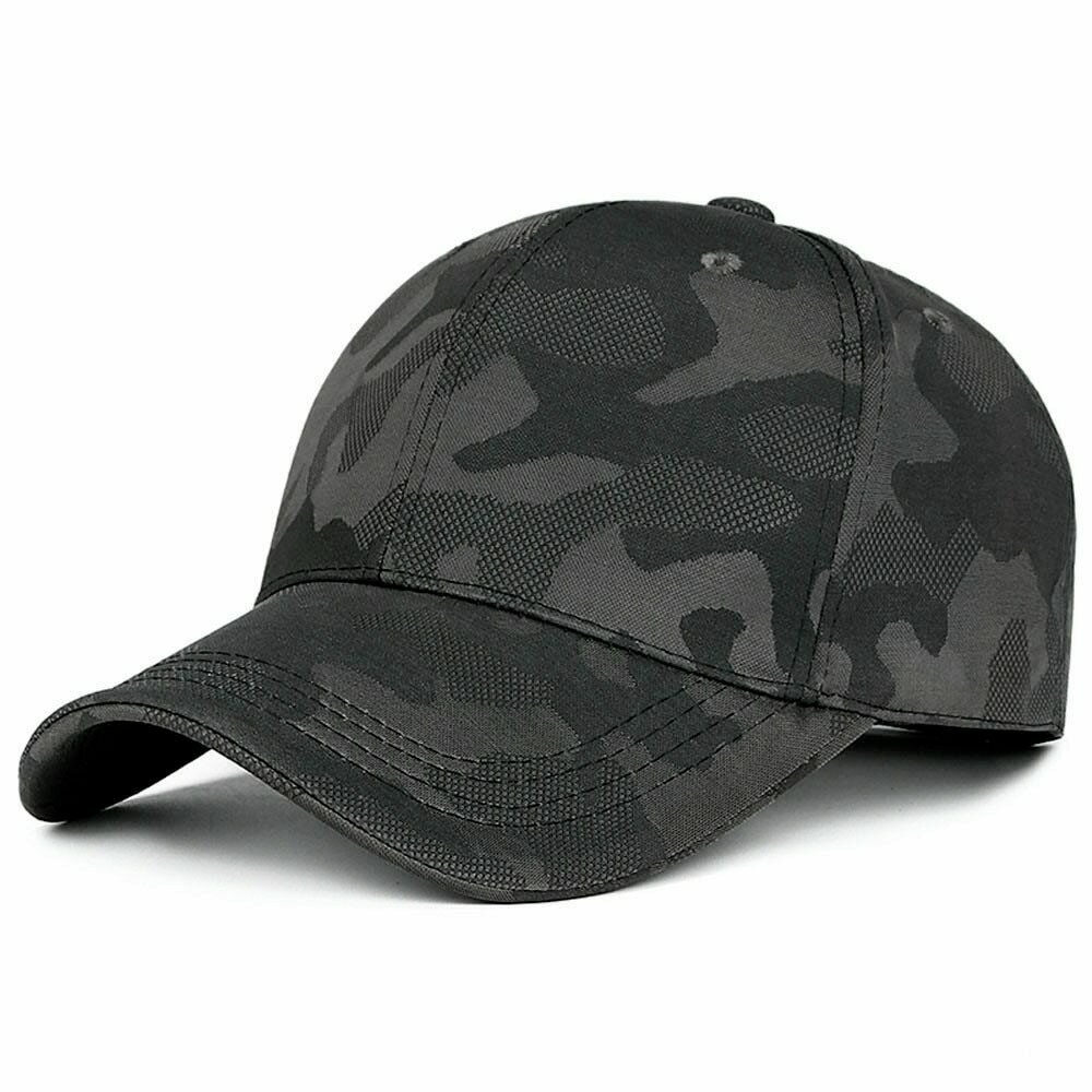 New Fashion Adjustable Baseball Cap Unisex  Camouflage Camo Black Cap Casquette Hat  Men Women Casual Desert Hat