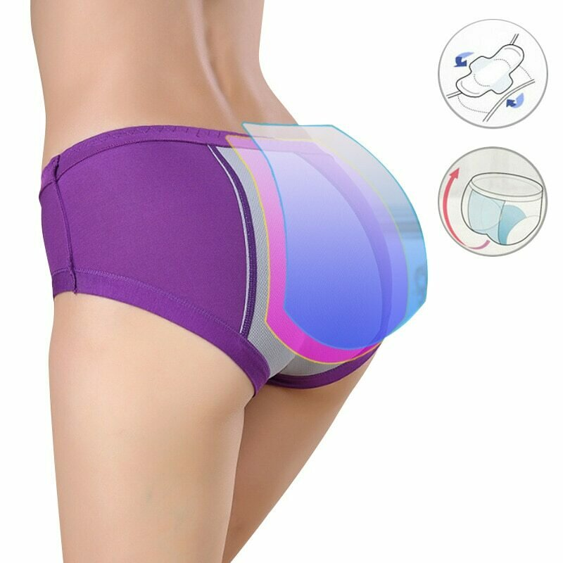 Leakproof Women Panties Waterproof Menstrual Underwear Heavy Absorbency Physiological Period Briefs Incontinence