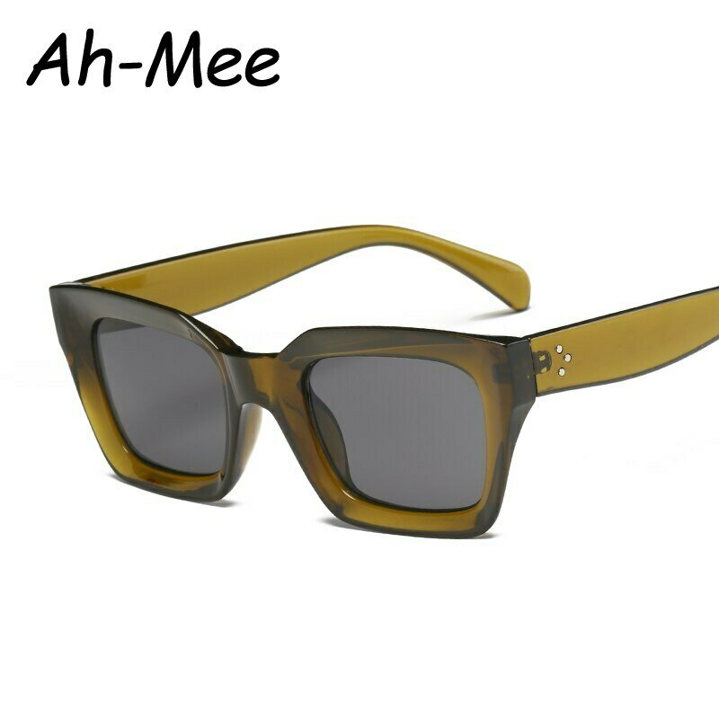 Square Cat Eye Sunglasses Women Retro Brand Design Vintage Sun Glasses For Female Ladies Eyewear UV400