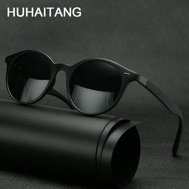 HUHAITANG Luxury Round Polarized Men Sunglasses Outdoor Rivets Women Sun Glasses Brand Designer Sunglass For Driving