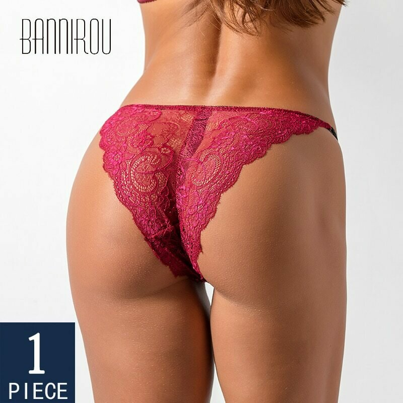 BANNIROU Woman Lace Panties Underwear Lingerie Mid Waist Good Quality Soft Female Sexy Briefs New 2021 Hot Sale Fashion 1 Pieces