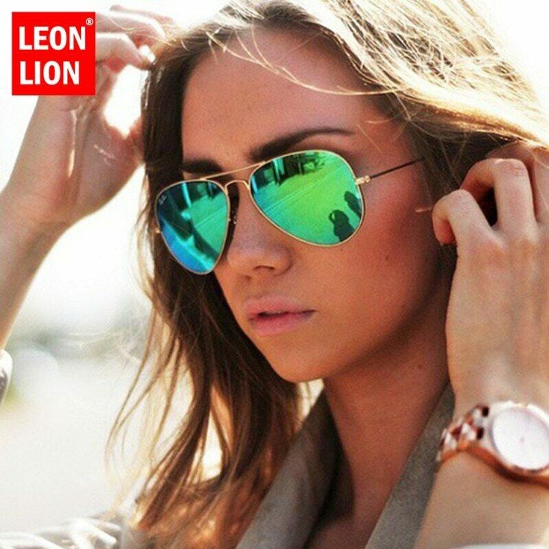 LeonLion 2021 Pilot Mirror Sunglasses Women/Men Brand Designer Luxury Sun Glasses Women Vintage Outdoor Driving Oculos De Sol