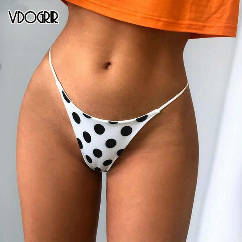 VDOGRIR Sexy Women's Cotton G-String Underwear Comfort Belt Thongs Low Waist Woman Thongs Soft Intimates Lady Lingerie Bikini