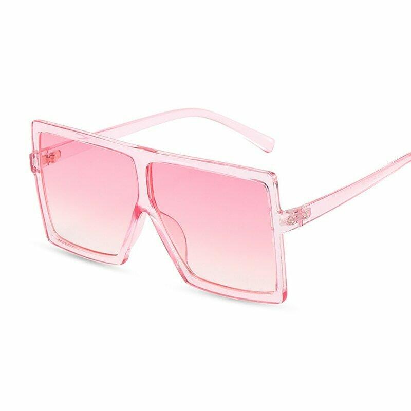 Oversized Shades Sunglasses Women Pink Fashion Square Glasses Big Frame Sun Glasses Female Vintage Retro Unisex Oculos Feminino