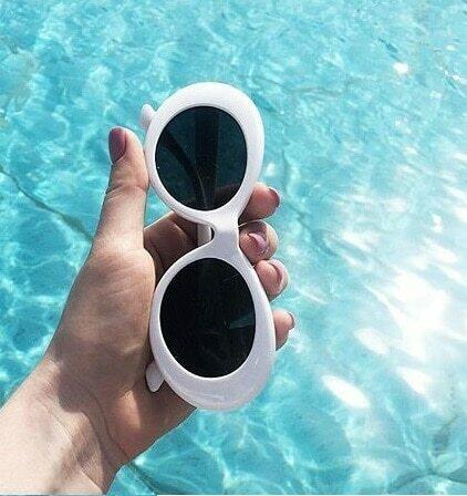 2021 goggle Kurt Cobain glasses oval sunglasses ladies trendy  hot Vintage retro sunglasses Women's white black eyewear UV