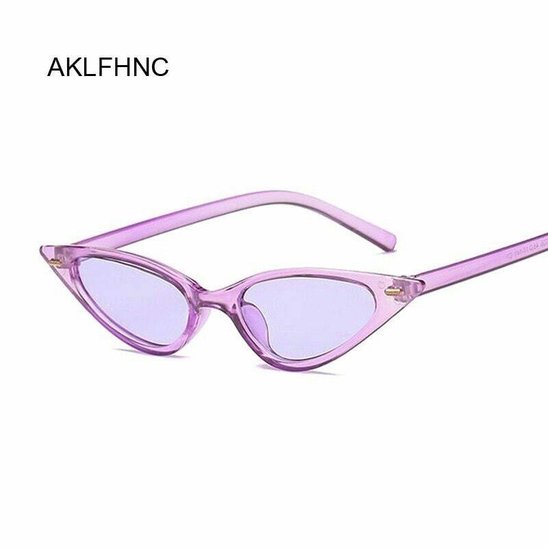 Women Cat Eye Sunglasses Small Size Brand Designer Fashion Retro Ladies Sun Glasses Female Black Purple Red Glasses UV400