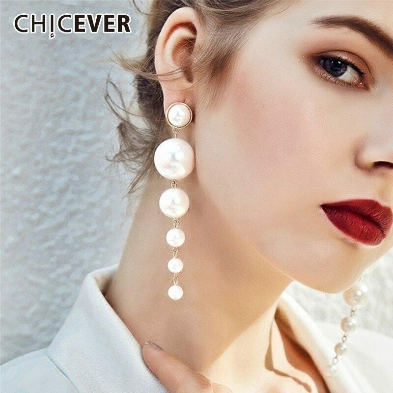 CHICEVER Jewelry Pearl Stud Earrings Accessories Party Earrings Female Fashion Earmuffs For Women 2020 New
