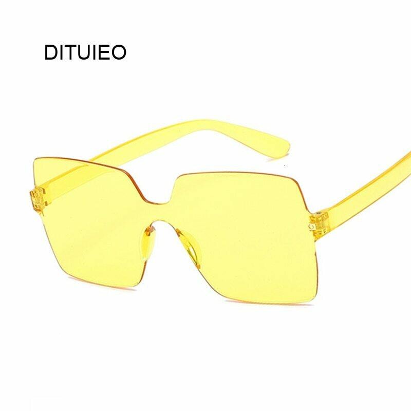 Fashion Sunglasses Women Ladies Red Yellow Fashion Square Sun Glasses Female Driving Shades UV400 Oculos De Sol Feminino