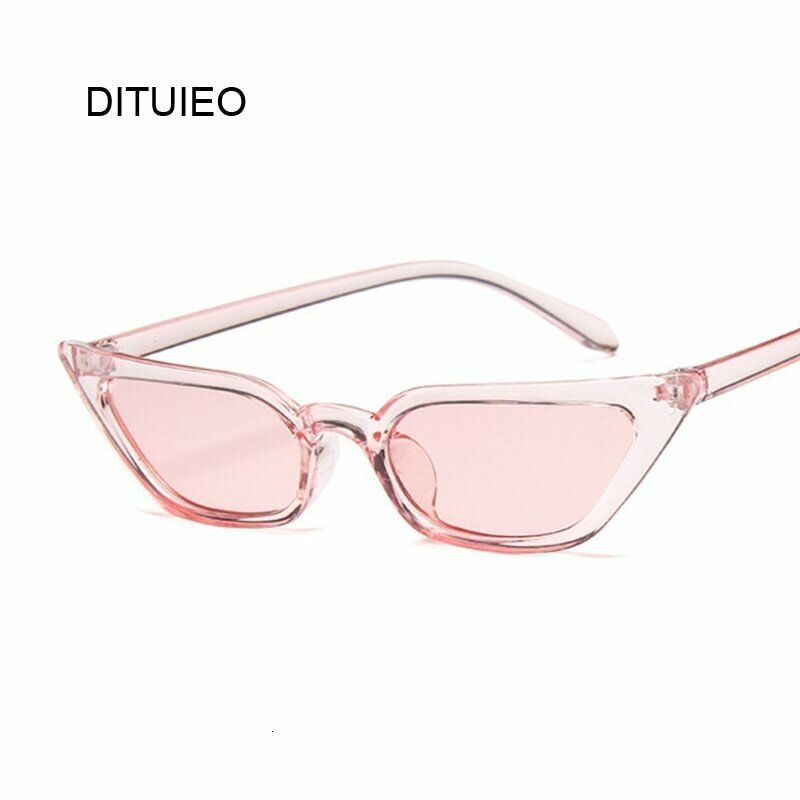 New Cateye Vintage Red Pink Sunglasses Women Brand Designer Retro Points Sun Glasses Female Superstar Lady Cat Eye