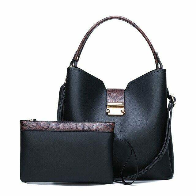 Women Fashion Handbags Clutches High Quality Leather Hand Bag Sets