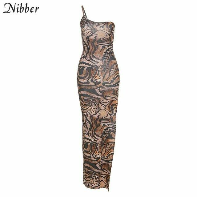 Nibber vintage elegant maxi dress for woman summer sleeveless slim