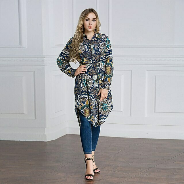 New Design Fashion Printing High Quality Muslim For Women Casual Tops