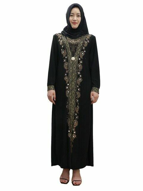 Plus Size Women Kids Abaya Islam Robe Arab Clothes Hijab Turkish