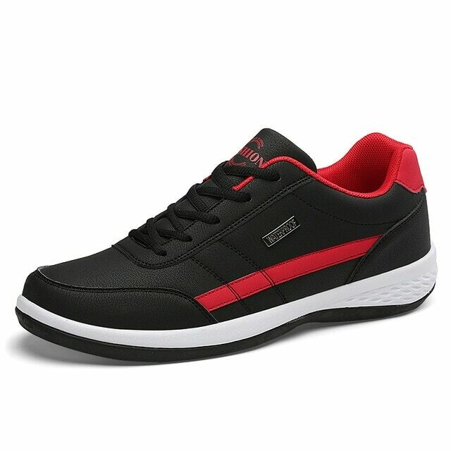 Leather Men Shoes Sneakers Trend Casual Shoe Italian Breathable