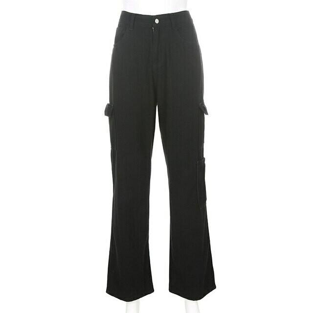 Vintage Jeans Women Harajuku Streetwear High Waist Denim Pants Fashion