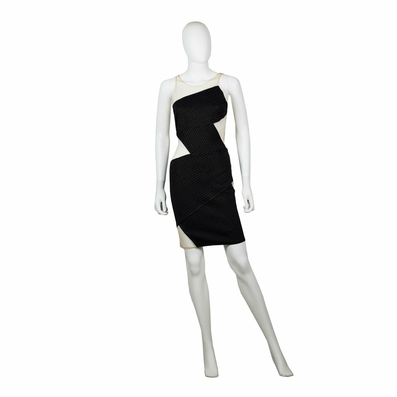 Edgy Neoprene Short Dress