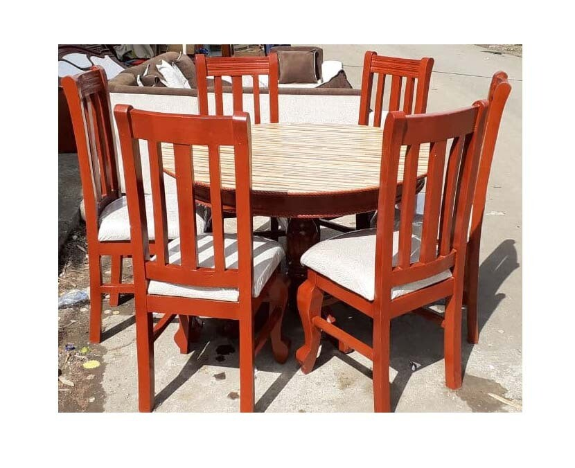 Table And 6 Chair (ጠረንቤዛ እና 6 ወንበር)