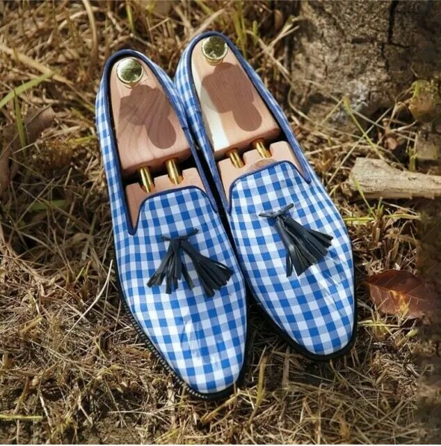 Hand mixed Color Cloth Shoes for Men Formal Loafers Casual Shoes for