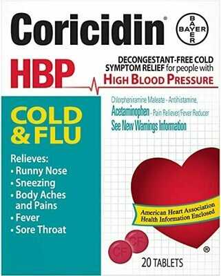 ኮርሲዲን ኤች.ቢ.ፒ. Coricidin HBP