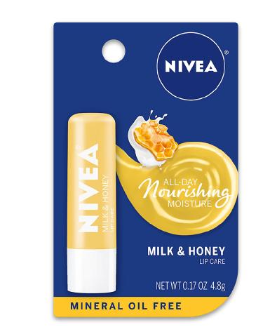 Nivea Lip Care Lip Balm Milk & Honey የከንፈር ቅባት