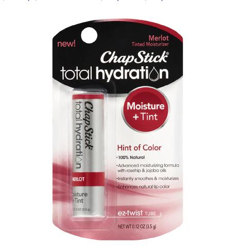 ChapStick Total Hydration Tinted Moisturizer Lip Balm Tube,  የከንፈር ቅባት