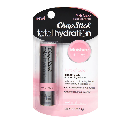 ChapStick Total Hydration Lip Balm Tint, Pink Nude የከንፈር ቅባት