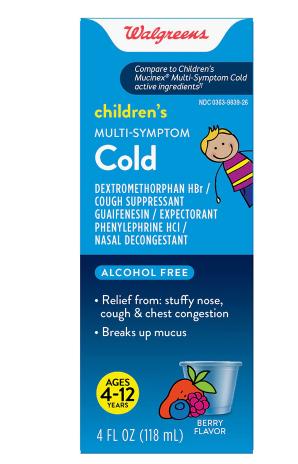 Children's Mucus Relief Multi-Symptom Cold; Cough Suppressant Mixed Berry