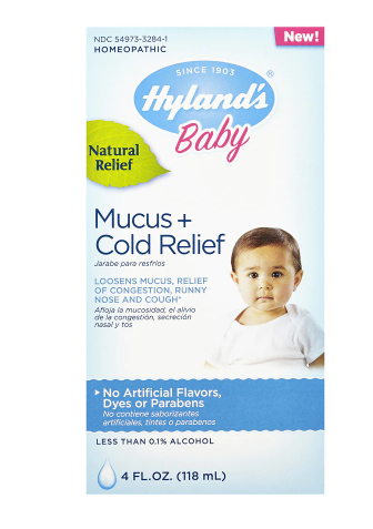Hyland's Baby Mucus & Cold Relief Liquid ሃይላንድስ ቤቢ