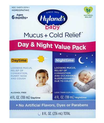 Hyland's Baby Mucus + Cold Relief Day/Night Value Pack