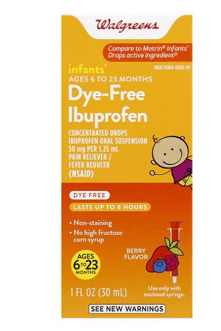 Dye-Free Ibuprofen ዳይ ፍሪ ኢቡፕሮፌን