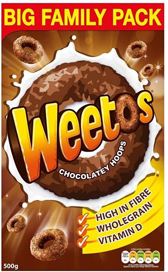 Weetos Chocolate Hoops ዊቶስ ቸኮሌት