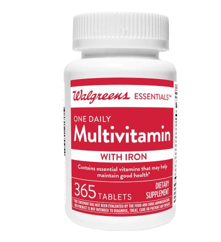 One Daily Multivitamin + Iron ዋን ዴይሊ መልቲቫይታሚን +አይረን