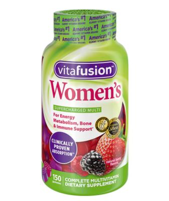 Vitafusion Women's Gummy Vitamins Berry ቫይታፍዩሽን ውመንስ ጋሚ ቫይታሚኖች ቤሪ