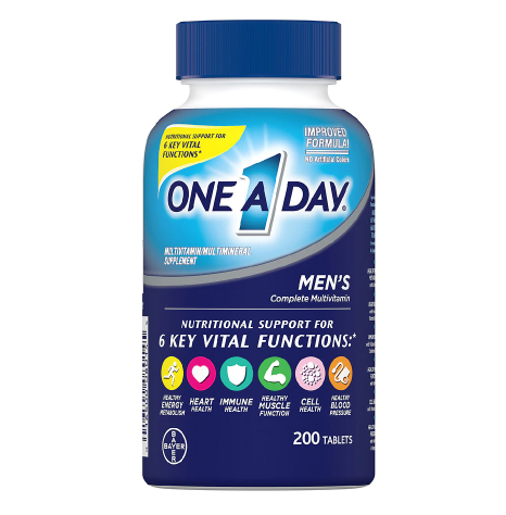 ONE A DAY ዋን ኤ ደይ ( Men's Complete Multivitamin Tablets)