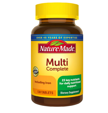 Nature Made ኔቸር ሜድ (Multivitamin Complete Tablets with Iron)