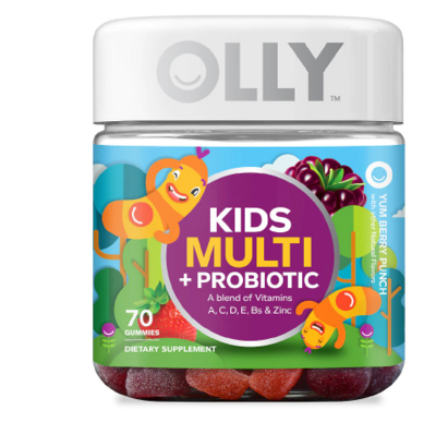 OLLY ኦሊ (Kids Multi + Probiotic Gummies Yummy Berry Punch)