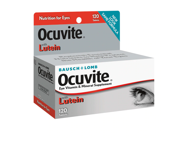 Ocuvite ኦኪቫይት (Vitamin and Mineral Supplement with Lutein Tablets)