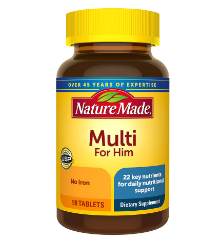 Nature Made ኔቸር ሜድ (Multi For Him Dietary Supplement Tablets)