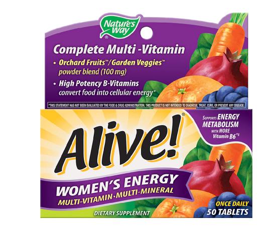 Alive! አላይቭ Women's Energy Multi-Vitamin Tablets