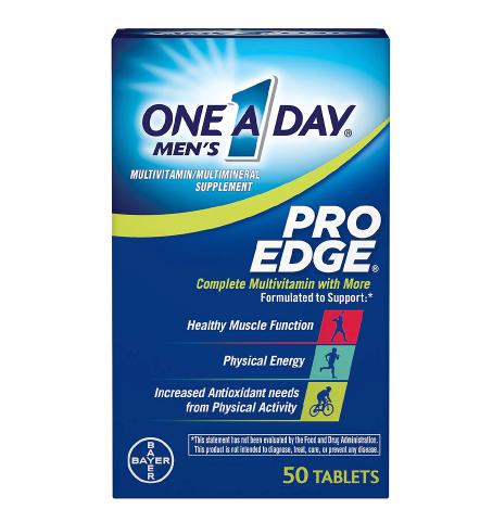One A Day  ዋን ኤ ደይ (Men's Pro Edge Complete Multivitamin Tablets)