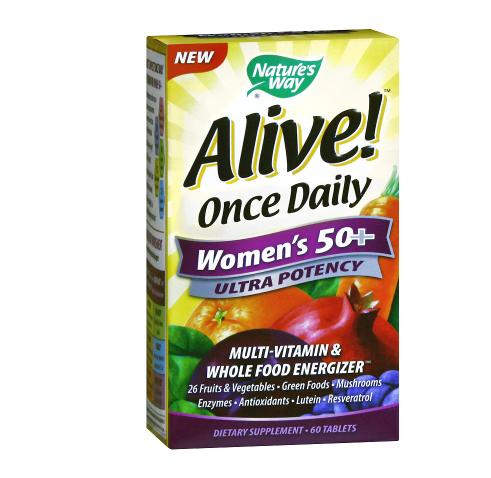 Alive! አላይቭ Once Daily Women's 50+ Ultra Potency Multivitamin, Tablets