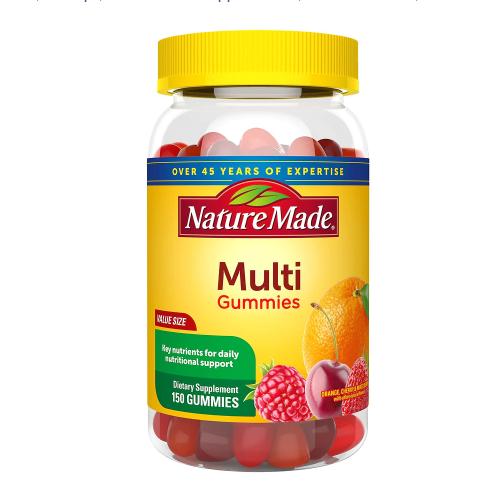 Nature Made ኔቸር ሜድ (Multi Adult Gummies Orange, Cherry & Mixed Berry )