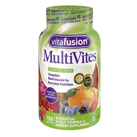 Vitafusion ቫይታፍዮዝን (MultiVites Gummy Vitamins Natural Berry, Peach & Orange)