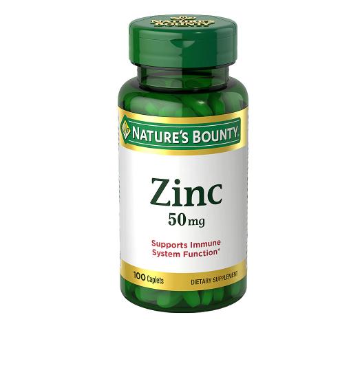 Zinc 50 mg Caplets ዚንክ