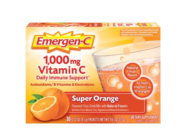 Vitamin C Super Orange ቫይታሚን ሲ (Daily Immune Support Drink with 1000 mg Vitamin C Super Orange)