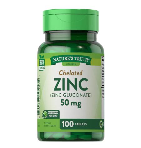 Chelated Zinc (Zinc Gluconate) 50 mg ቼሌትድ ዚንክ
