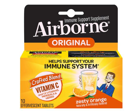 Immune Support Effervescent Minerals & Herbs with Vitamin C, E, Zinc Zesty Orange