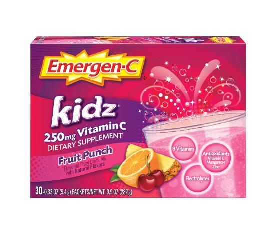 Kidz Vitamin C 250 mg Drink Mix with B Vitamins and Electrolytes Fruit ኪድስ ቫይታሚን ሲ